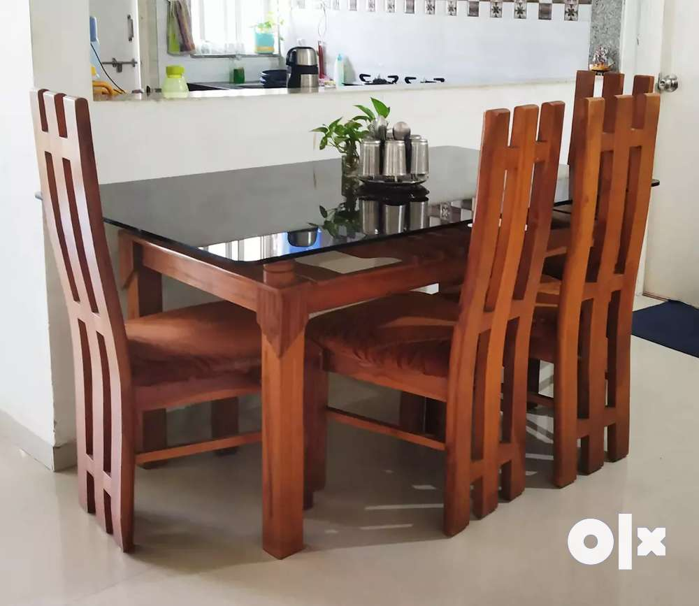 Pure Solid Wood Dining Table With Six Chairs 6 Seater Sofa Dining 1605438830