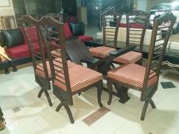 Solid wooden chairs its 6 seater