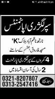 Booking for flats prime location in north nazimabad