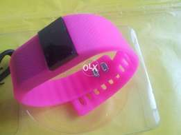 Gadgets Arena Brand New TW64 Smartband For Girls -Pink