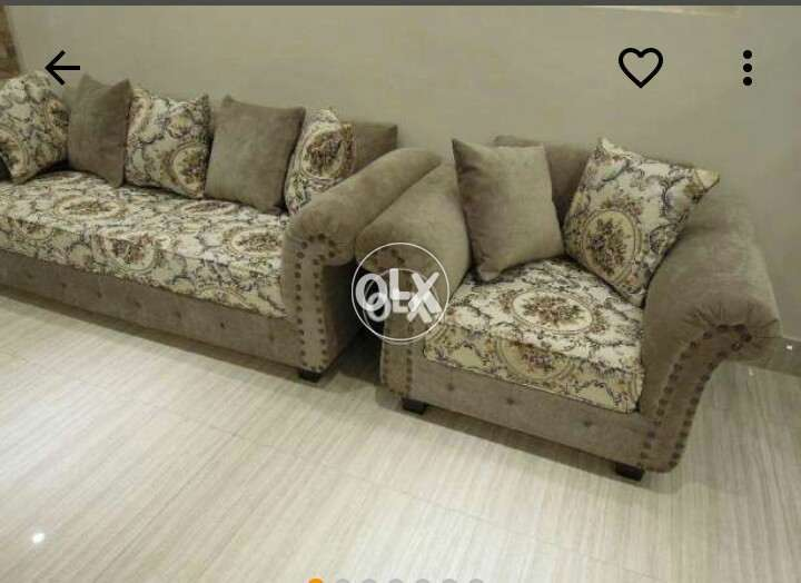6 Seated Skin Golden Sofa