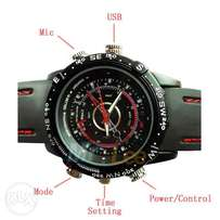 spy watch camera with black strap and good video rezult home delivery