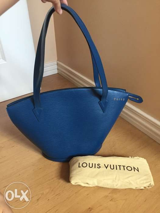 56a00d7231b7 Authentic Preloved Louis Vuitton St Jacque Epi Blue Gm Bag Lv in ...