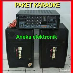 paket karoke sound system speaker BMB + AMPLIFIER BLUETOTH BERGARANSI