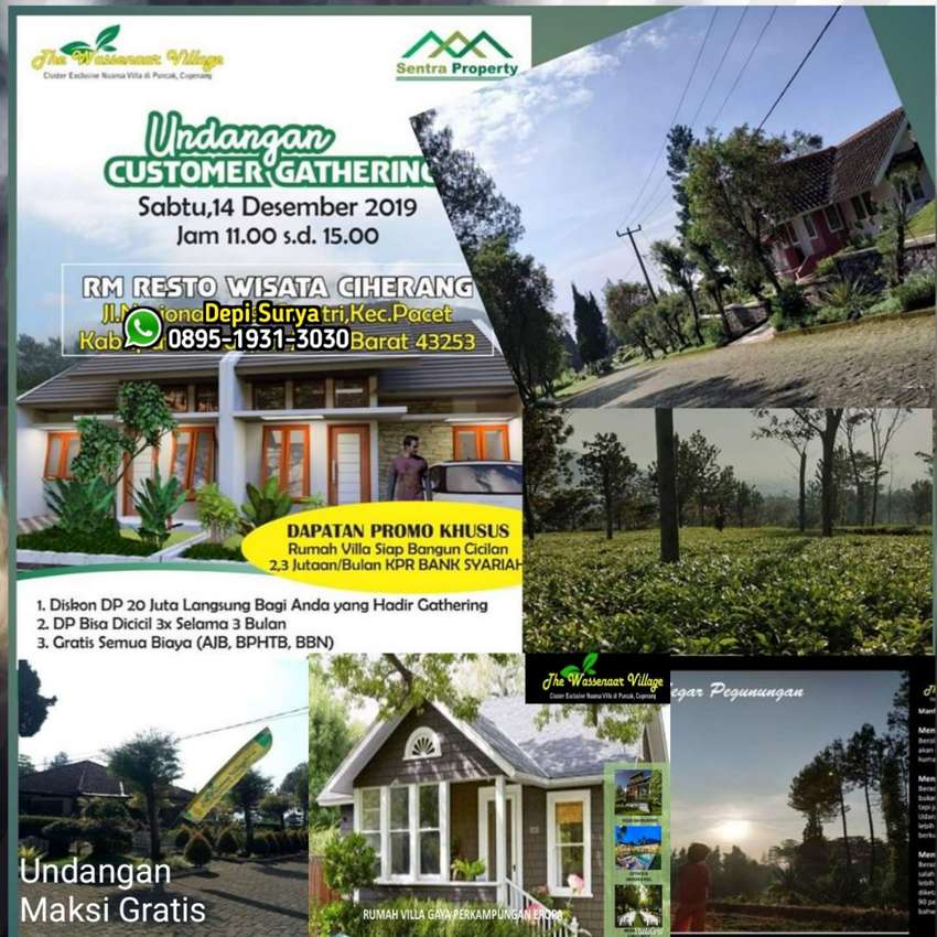 Rumah Villa Resort Kawasan Wisata Kebun Teh Puncak Cipanas