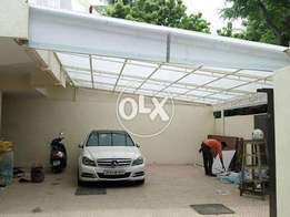 Fiber glass car porch 160 pr sq ft