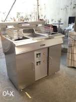 Double tank Digital Tube Fryer NEW at factory price