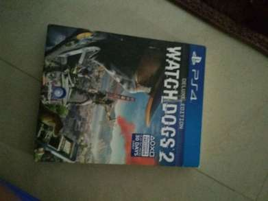 jual kaset ps 4 watch dogs 2 & horizon zero dawn