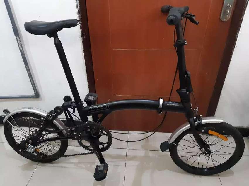 Sepeda Lipat United Trifold 3 Barang Seperti Baru Sepeda Aksesoris 801554465