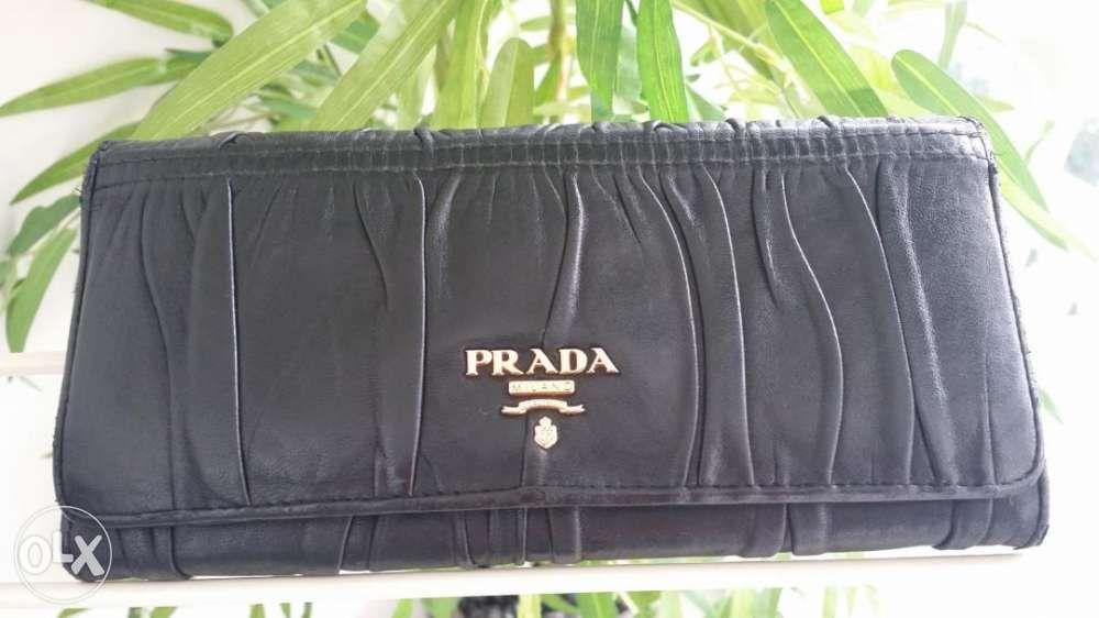 00b38aa1596c Prada Gaufre Nappa wallet not Gucci Kate Spade Coach LV Balenciaga ...