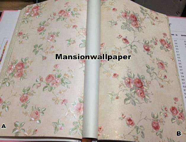 Wallpaper Dinding Bunga Shabby Chic Rose Dekorasi Rumah