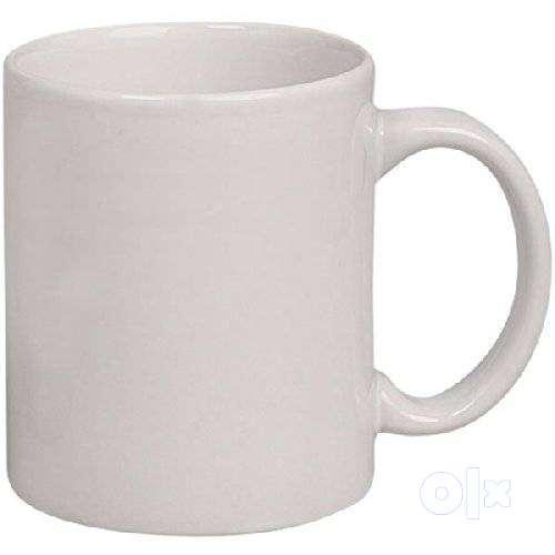 Plain White Ceramic Coffee Mug 325ml