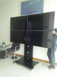 Braket tv Stand Video Conference 1 tiang dua tiang 4 tv cuztom MURAH