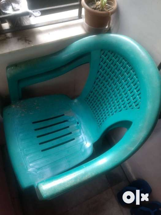 two branded plastic chairs with one plastic tool bidhannagar