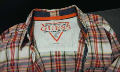 long shirt anak guess original