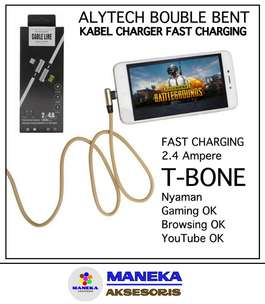 Alytech Kabel Cas Data Fast Charging 2,4A TBONE L-T Micro USB 1 Meter