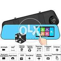 Car Dvr Mirror 7 Inch Lcd Touch Screen Front And Back Camera 1080p