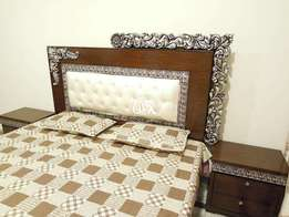 Double Bed (Full Set) in wooden structure