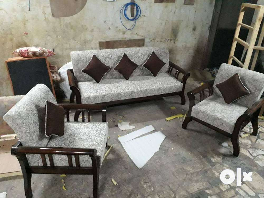 New Designer Wooden Sofa Set 5 Seater In Teak Wood Beds Wardrobes 1568030992
