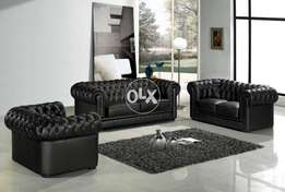 new Tufted arm and back sofa seven seater in fabric or leatheright.