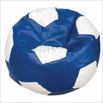 Bean bags adult size blue white football