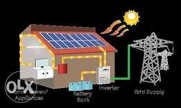 Solar Hybrid system in low price complete backup warranty for all pak