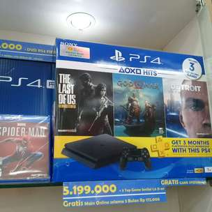 Kredit PS4 Slim / Pro Free 4 Game Dan Stik 2 Bunga 0% Dp 720K