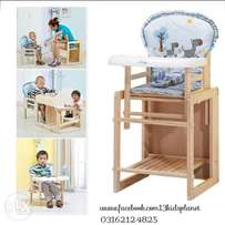 Baby Wooden High Chair
