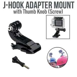 Holder Action Cam J Hook Mount Adapter Dan Sekrup Gor Gopro Xiaomi Dll