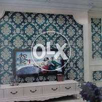 3D wallpapers, window blinds, AC-3 wooden floor & PVC vinyl floor