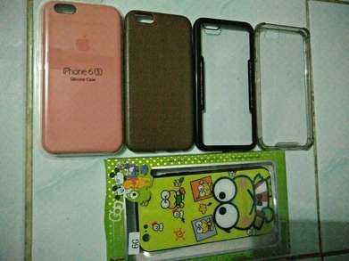 softcase dan tempered glass iphone 6 / 6s