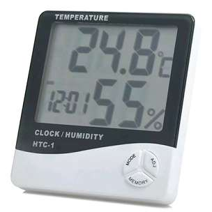 Hygro Therno Digital  Temperature, Humidity Meter with Clock Alarm