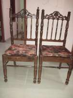 Two dinning chair wooden