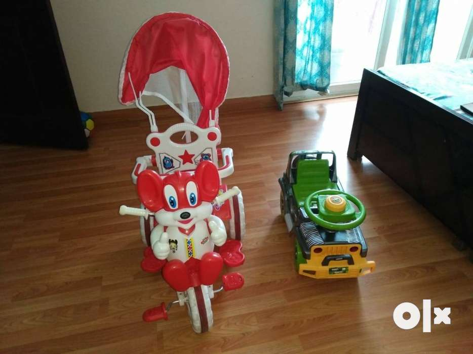 Baby cycle, Baby jeep and baby tub for sale in - Noida - Furniture ...