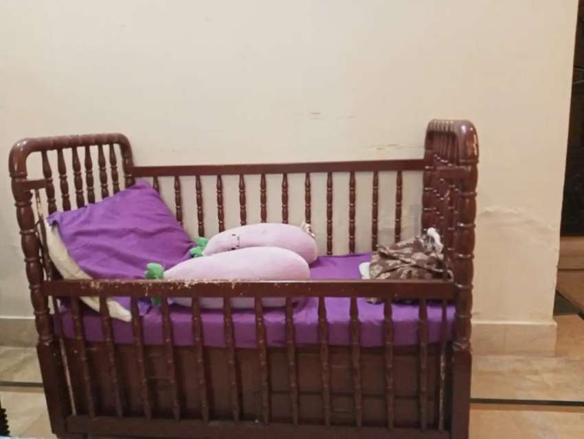 Wooden Baby Cot With Foam Beds Wardrobes 1015640465