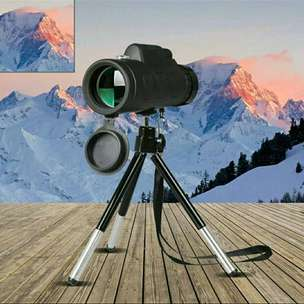 Monocular Telescope 40X60 Travel Portable HD Dual Focus With Holder Hp