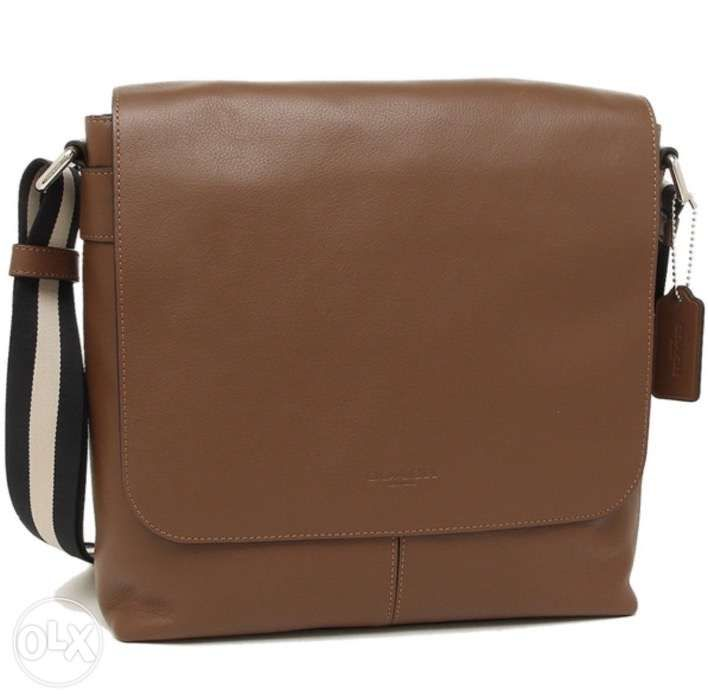 AUTHENTIC Coach Mens Bag F28576 NISAD Small Messenger Brown Leather ... 85a7856d572f5