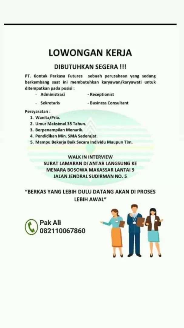 Dibutuhkan Segera Loker Minimal Ijazah Sma Lowongan 771995066