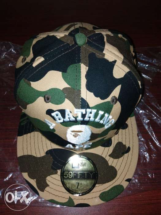 20735516497 A bathing ape Bape BBC New Era Fitted Cap Supreme yellow 1st camo in ...