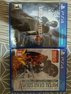 Disc game PS4 uncharted 4 dan MGS 5