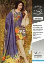 GulMor Lawn With Chiffon Dupatta Embroidered Neck Printed Lawn Front