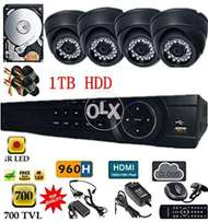 4 CCTV Cameras Full HD Night Vision With Complete System