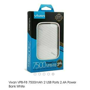 Vivan VPB-F8 PowerBank 7500mAh Fast Charging 2 Output Original
