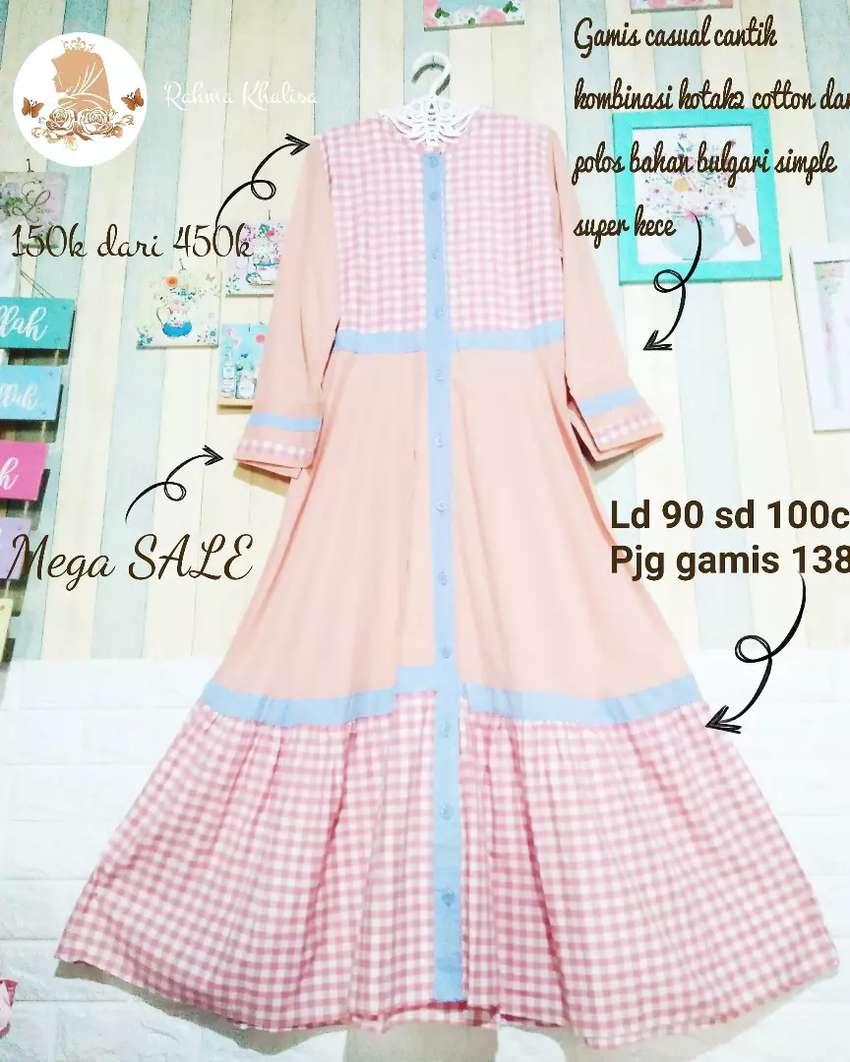 Gamis Casual Simple Cantik Fashion Wanita 800050642