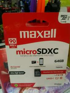 MicroSDXC Maxell 64GB Class 10 UHS-1 Speed Up To 90MB/s