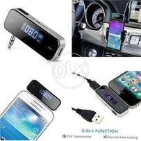 Car FM Transmitter Radio Audio Adapter for iPhone Samsung iPo