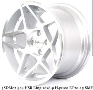 HSR racing Ring16x8-9 lobang 4x100 SMF