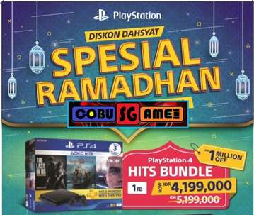 New Segel PS4 Slim 1TB Bundle Hits Garansi Resmi SONY Indonesia