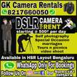 DSLR camera For Rent WhatsApp for details