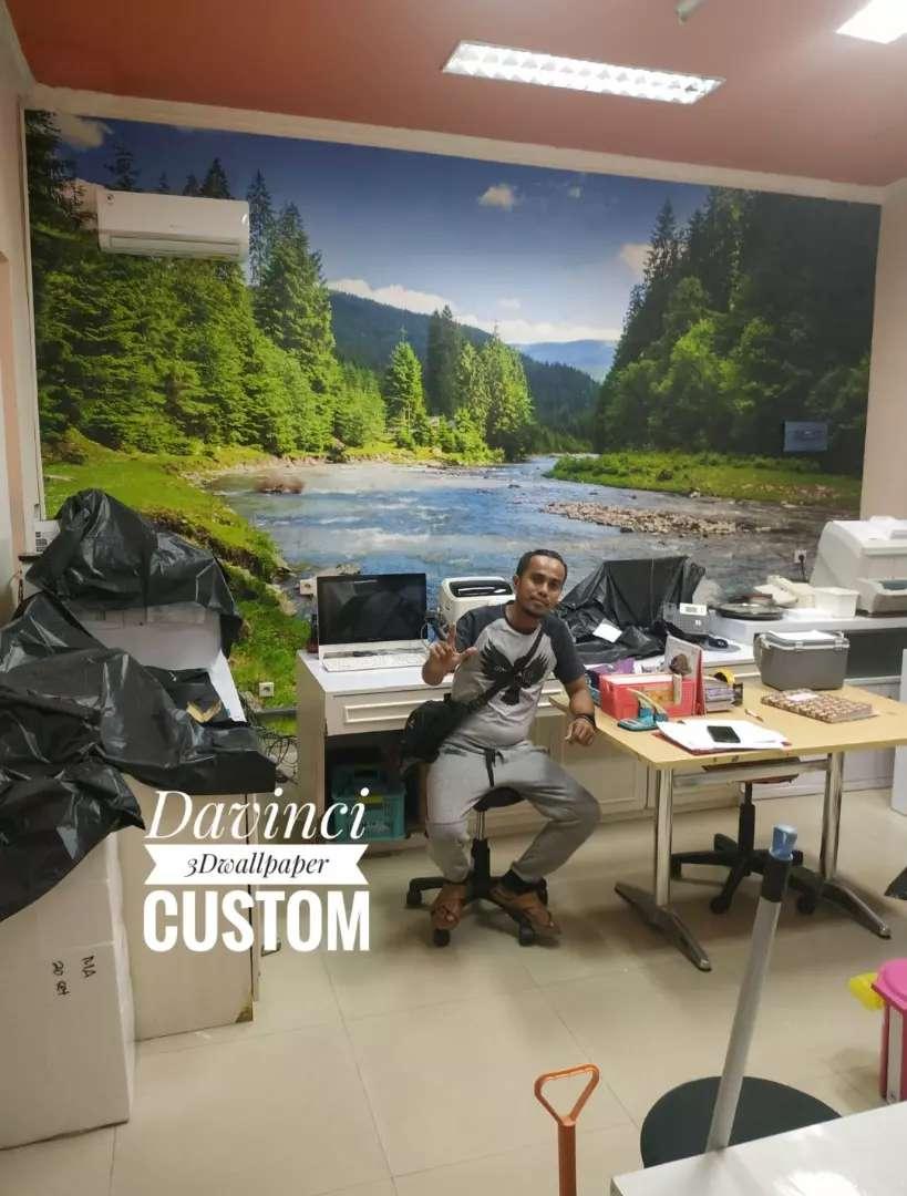 Wallpaper 3D Custom Untuk Dinding